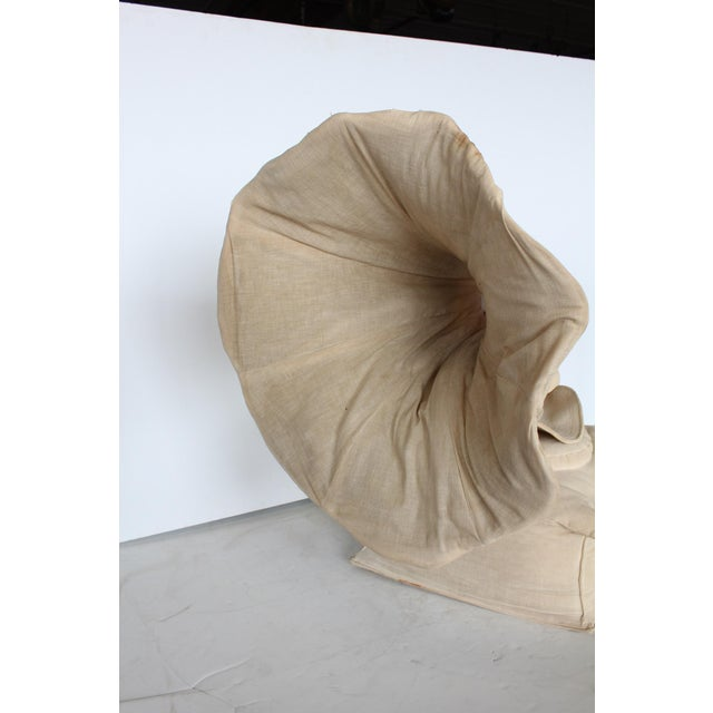 Rare 20th Century 3d Canvas Sculpture of Gramophone For Sale - Image 4 of 5