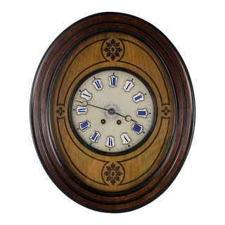20th Century Biedermeier-Style Oval Regulator Clock For Sale