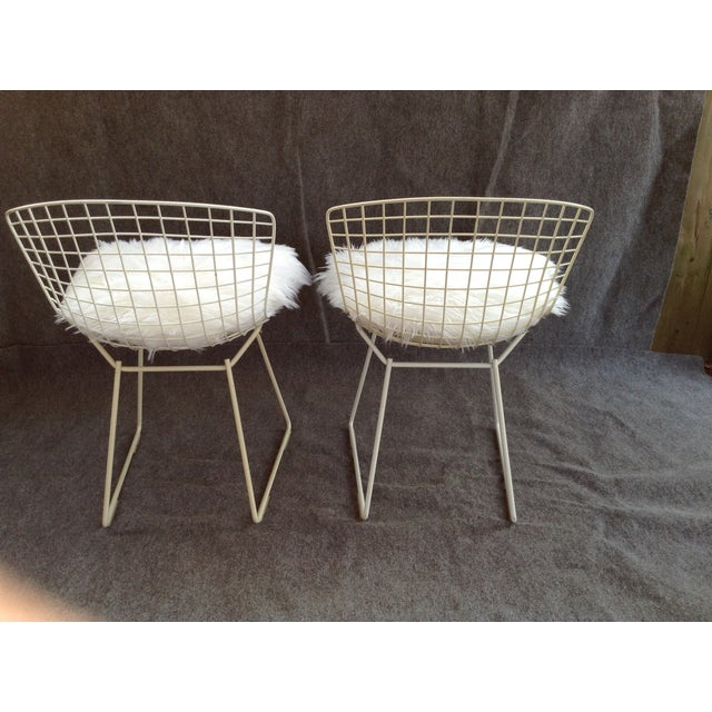 Vintage White Wire Knoll Bertoia Chairs - A Pair - Image 3 of 10