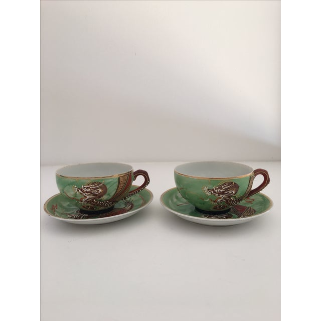1940's Nagoya Moriage Dragon Ware Tea Set - 7 - Image 7 of 11