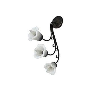 Art Nouveau Style 3-Light Floral Sconce For Sale