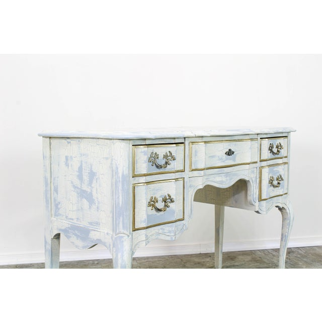 White French Provincial White Shabby Chic Vanity Desk For Sale - Image 8 of 13