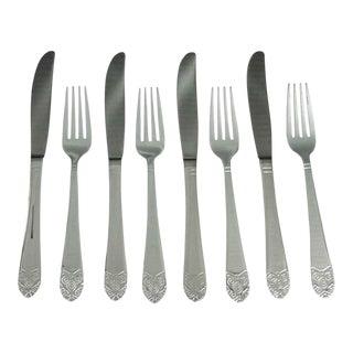 Waldorf Art Deco Dinner Knives & Forks - Set of 8 For Sale