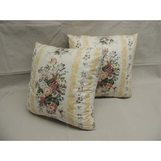 Floral Chintz Pillows - A Pair - Image 4 of 4