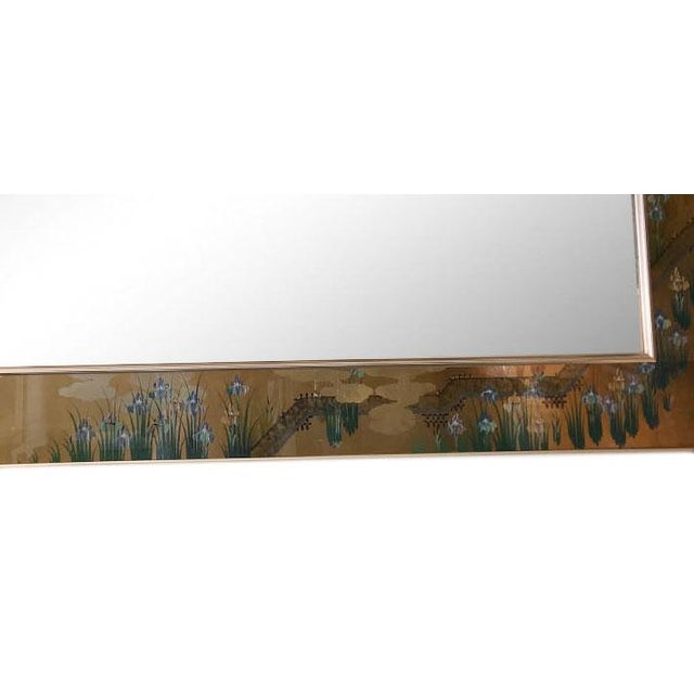 1980s Contemporary Mirror With Floral Edge For Sale - Image 4 of 6