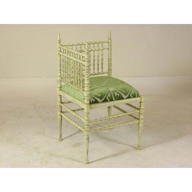Shabby Chic 19th Century Corner Chairs - a Pair For Sale - Image 3 of 11