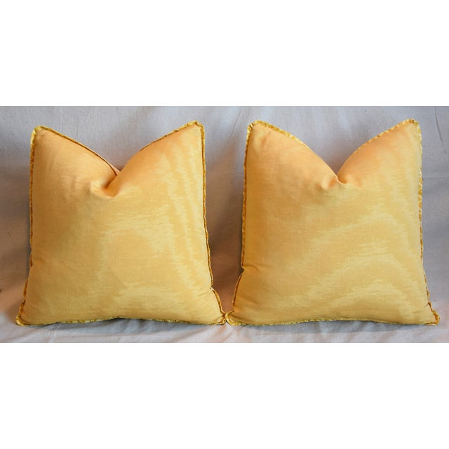"""Italian Mariano Fortuny Canestrelli Feather/Down Pillows 20"""" Square - Pair For Sale - Image 10 of 13"""