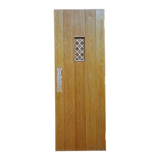 Antique Oak Doors With Leaded Glass