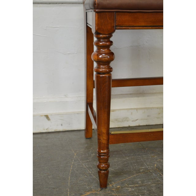 Ethan Allen Regency Style Counter Bar Stools - A Pair - Image 6 of 11
