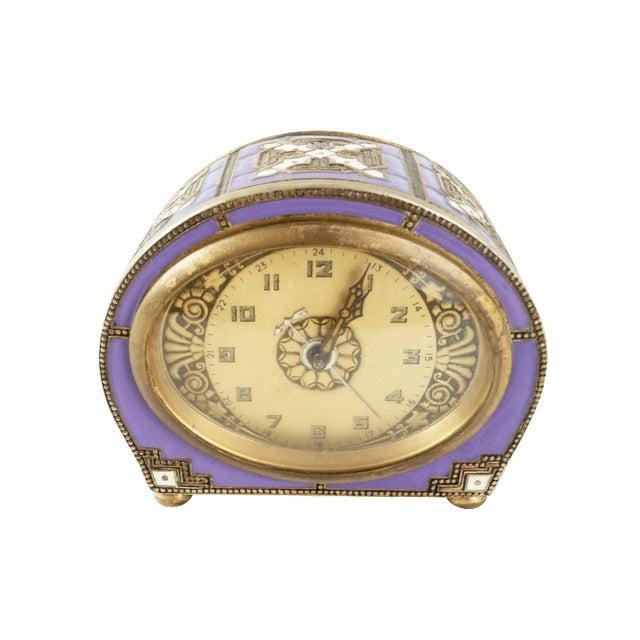 Antique Enamel Cloisonne Mantel or Desk Clock - Image 1 of 7