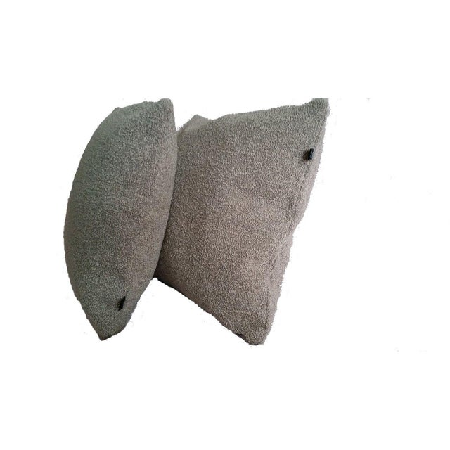 """Offered are (2) 16"""" x 16"""" knife-edge pillow covers complete with an invisible zipper closure. Luna's Winsome in Greige is..."""