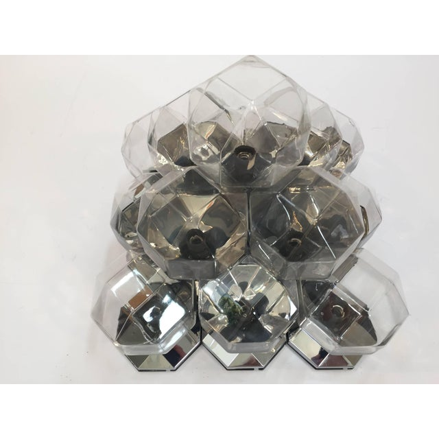 1970s Extra Large Modular Wall or Ceiling Lamp by Motoko Ishii for Staff For Sale - Image 9 of 10