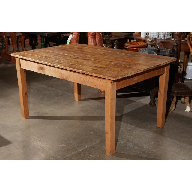 Country Rustic Country Pine Table For Sale - Image 3 of 7