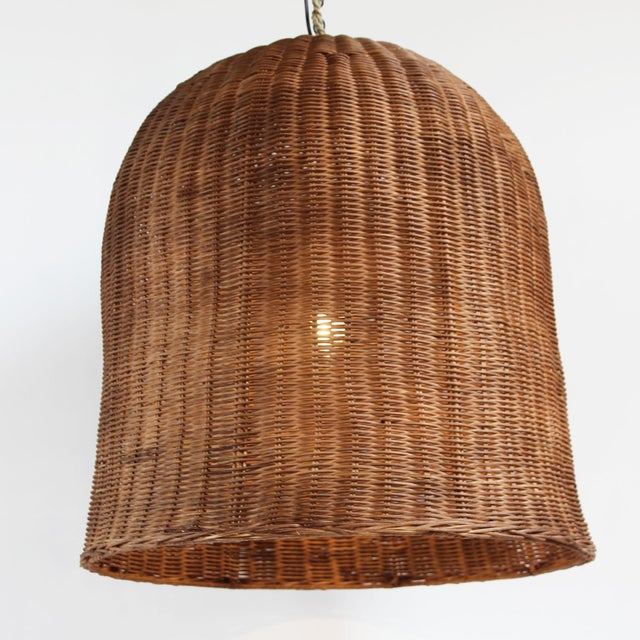 Contemporary Coffee Stain Bell Lantern Extra Large For Sale - Image 3 of 4