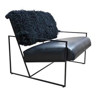 Barracuda Fur Lounge Chair For Sale