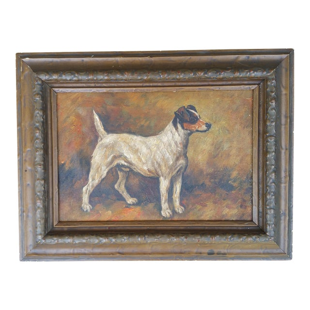 Terrier Dog Oil Painting - Image 1 of 6