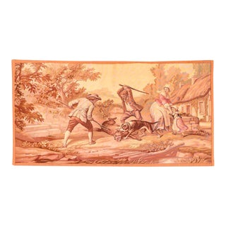Antque Pictorial French Tapestry For Sale