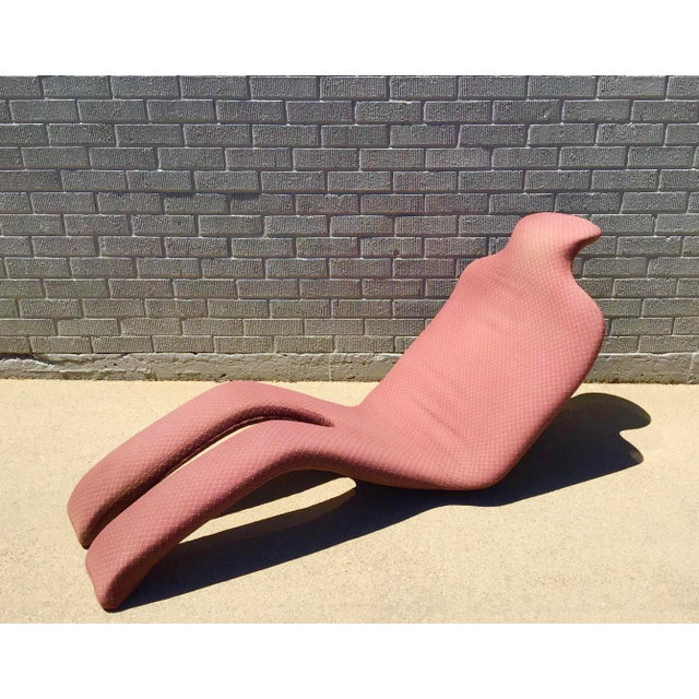 Olivier Mourgue Bouloum Fiberglass and Fabric Lounge Chair For Sale - Image 13 of 13