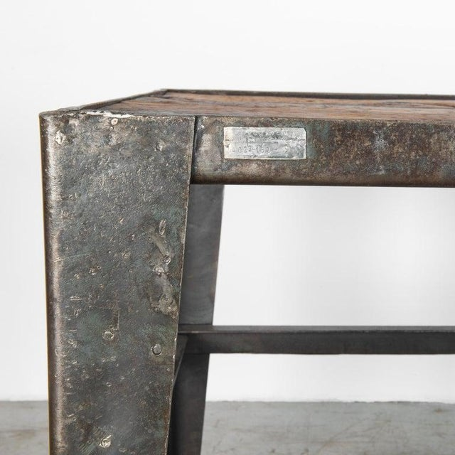 Mid-20th Century Industrial Czech Table For Sale - Image 4 of 7