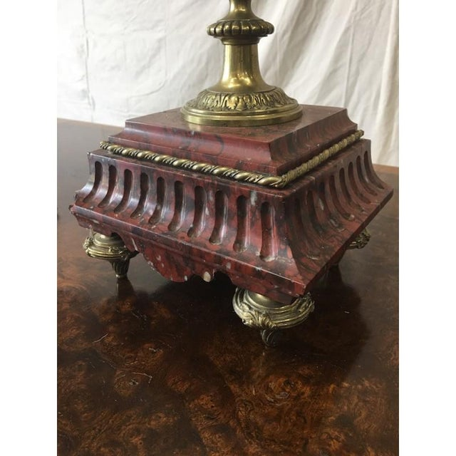 19th C. French Antique Gilt & Marble Candelabras - A Pair For Sale In Austin - Image 6 of 8
