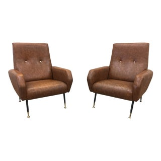 Pair of Mid-Century Italian Arm Chairs For Sale