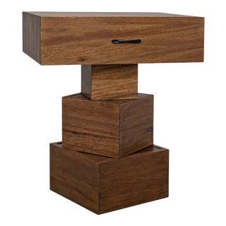 Grobius Side Table in Dark Walnut For Sale