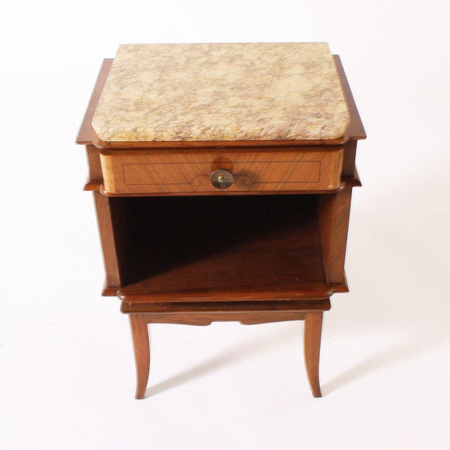 Pair of Art Deco Side Tables With Marble Top, C. 1930 For Sale In Dallas - Image 6 of 6
