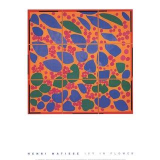 1998 Vintage Henri Matisse Ivy in Flower Poster