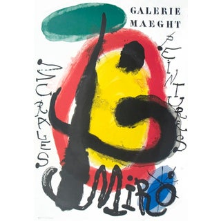 Joan Miro, Peintures Murales, Lithograph, 1961 For Sale