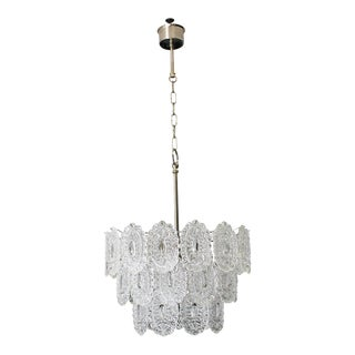 1960s Italian Modern Chandelier by Murano Glass For Sale