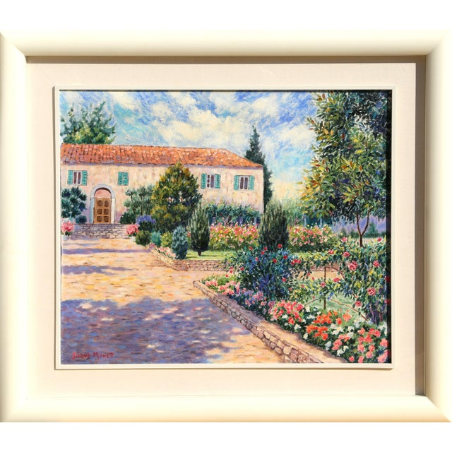 """Diane Monet, """"Ceviez Garden"""", Impressionist Landscape Painting For Sale"""