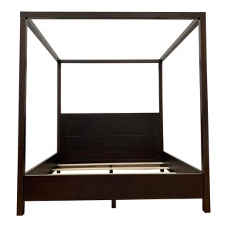 Eastern King William Sonoma Keating Canopy Bed Frame For Sale