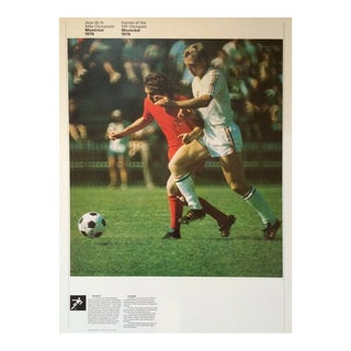 1976 Montreal Olympic Poster, Double-Sided, Football/Weightlifting - Cojo For Sale