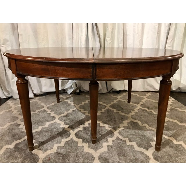 Louis Philippe Round Walnut Table With Leaves For Sale - Image 4 of 6
