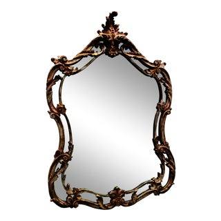 Early 20th Century Italian Carved Wooden Mirror