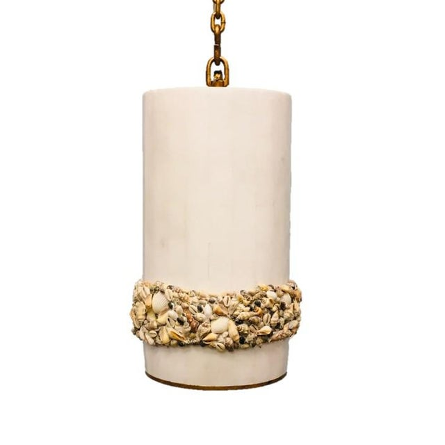 Century Furniture Century Furniture Victorian Shell Work Pendant For Sale - Image 4 of 4
