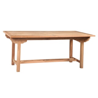 Outdoor Teak Wood Dining Table For Sale