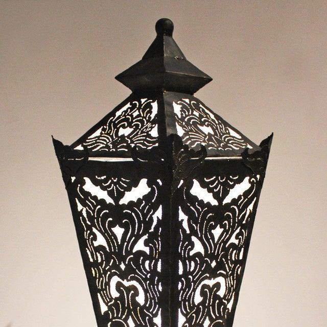 Metal Work Floor Lantern - Image 2 of 2