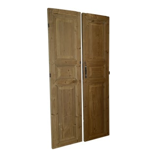 Antique Raised Panel French Doors - a Pair For Sale