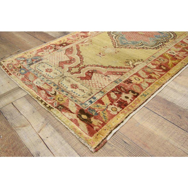 20th Century Turkish Oushak Accent Rug For Sale In Dallas - Image 6 of 8