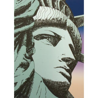 "Jim Boutwell ""Liberty '86"" Hand Signed Limited Edition Serigraph Art Print For Sale"