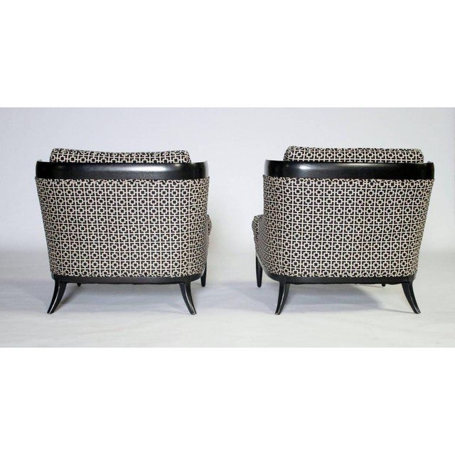 Hollywood Regency Pair of Slipper Chairs by Erwin Lambeth For Sale - Image 3 of 7