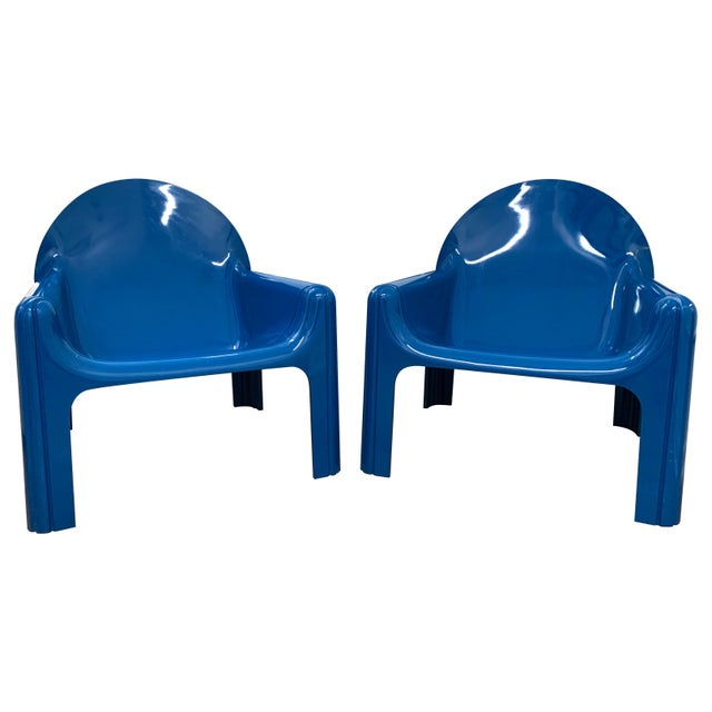 1970s Vintage Gae Aulenti for Kartell Italian Lounge Chairs- A Pair For Sale - Image 13 of 13