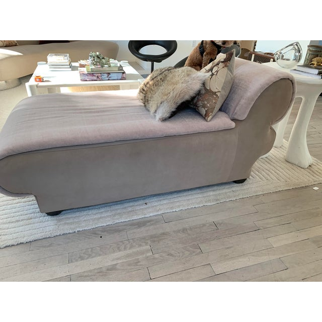 Biomorphic, petite, chaise lounger. Wonderfully shape forward profile makes a statement without taking up too much space....