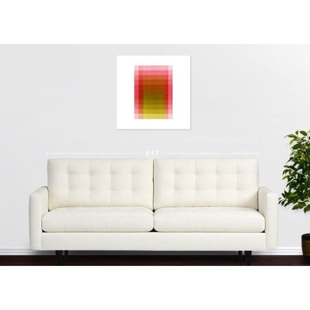 Jessica Poundstone Pink & Acid Yellow [Color Space Series] Print - Image 2 of 3