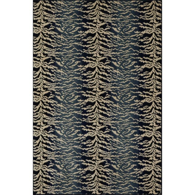 "2010s Stark Studio Rugs Tabby Blue Rug - 2'2"" X 7'8"" For Sale - Image 5 of 6"