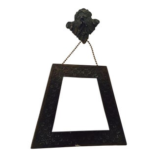 Antique Goth Memoria Morti Bronze Picture Frame For Sale