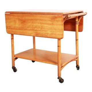1950s Vintage Heywood Wakefield Ashcraft Bar Cart For Sale