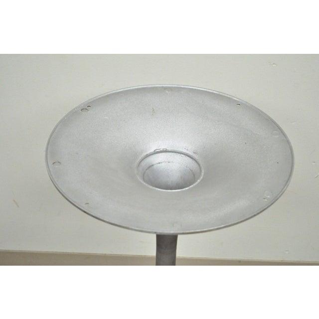 Metal Burke Mid-Century Modern Aluminum Tulip Propeller Dining Table Base For Sale - Image 7 of 12