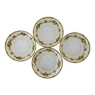 "Elegant Fine Noritake China Marked ""m"" Japan Soup Bowls S/4 For Sale"